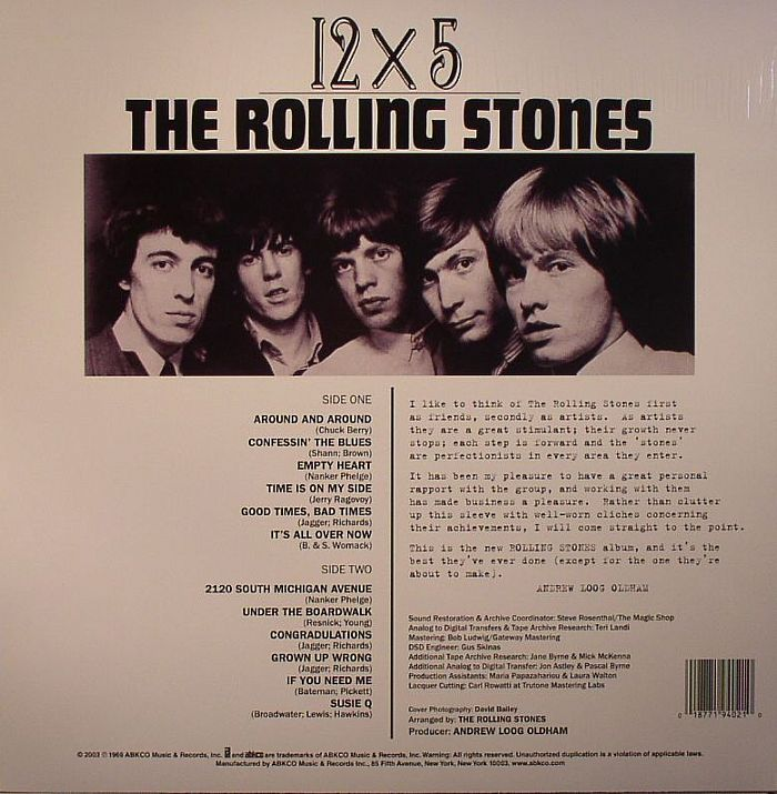 The Rolling Stones 12 X 5 Vinyl At Juno Records