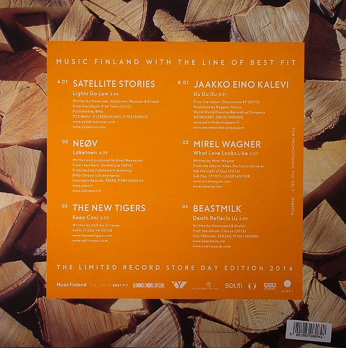 SATELLITE STORIES/NEOV/THE NEW TIGERS/JAAKKO EINO KALEV/MIREL WAGNER/BEASTMILK - Music Finland With The Line Of Best Fit: The Limited Record Store Day Edition 2014