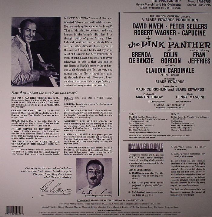 MANCINI, Henry - The Pink Panther (Soundtrack) 50th Anniversary Edition
