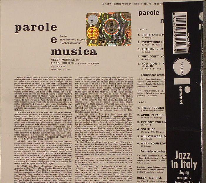 MERRILL, Helen - Parole E Musica (remastered)