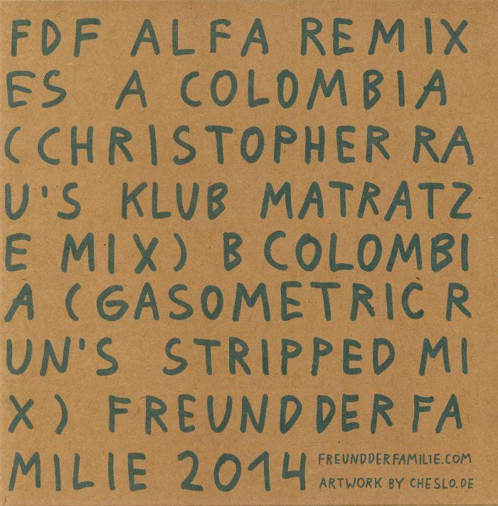 Freund Der Familie Alfa Remixes #1 (christopher Rau & Gasometric Run) Vinyl At Juno Records.