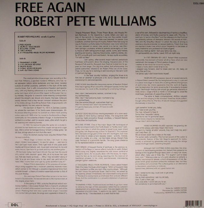 PETE WILLIAMS, Robert - Free Again