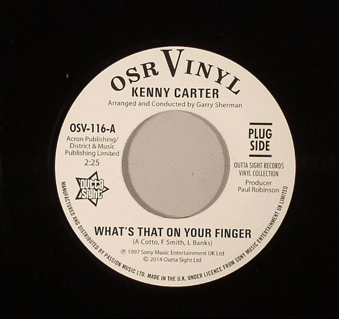 CARTER, Kenny - What's That On Your Finger
