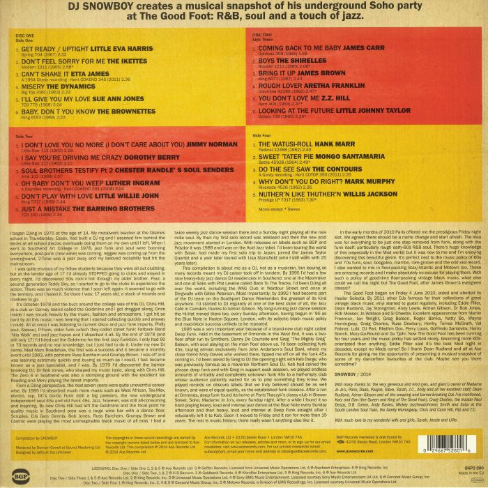DJ SNOWBOY/VARIOUS - DJ Snowboy presents The Good Foot: The Soundtrack To His Soho Night