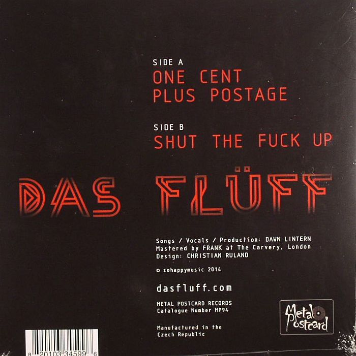 DAS FLUFF - 1 Cent Plus Postage