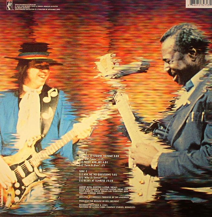 albert with stevie ray vaughan king in session vinyl at juno records. Black Bedroom Furniture Sets. Home Design Ideas