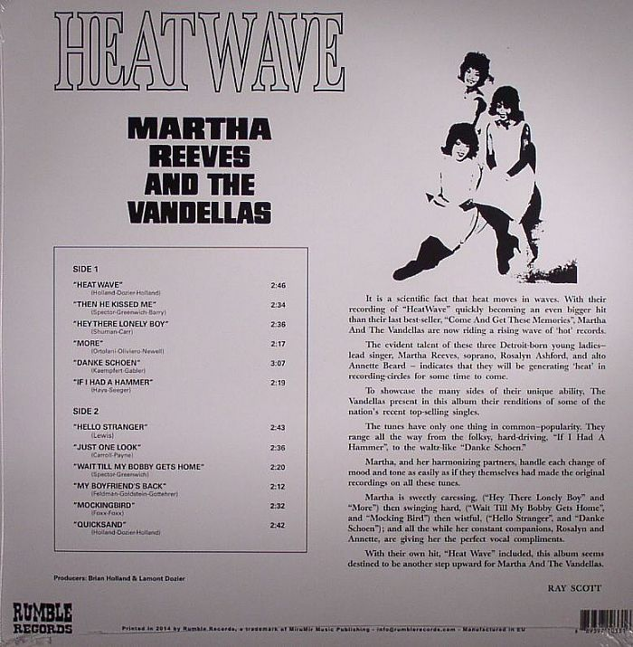 REEVES, Martha & THE VANDELLAS - Heat Wave