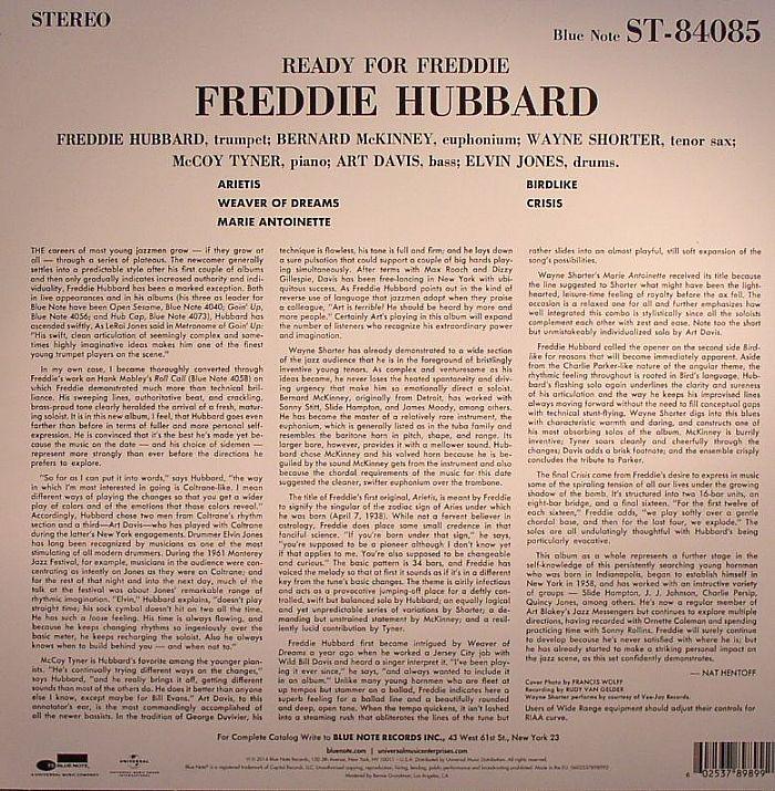 HUBBARD, Freddie - Ready For Freddie