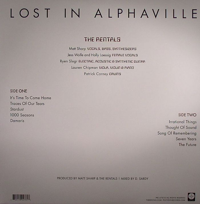 RENTALS, The - Lost In Alphaville