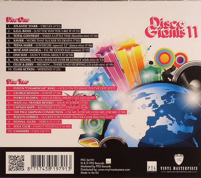 VARIOUS - Disco Giants Volume 11: 20 Full Length Disco Classics Of The 80's