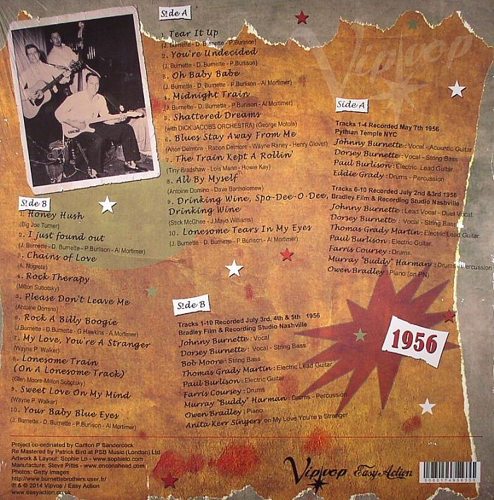 BURNETTE, Johnny/THE ROCK N ROLL TRIO - Rock A Billy Boogie