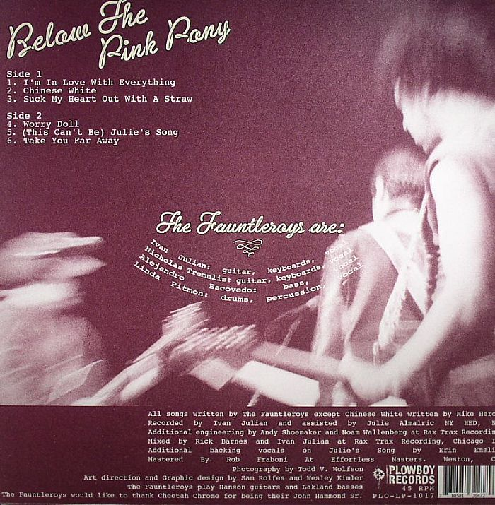 FAUNTLEROYS, The - Below The Pink Pony