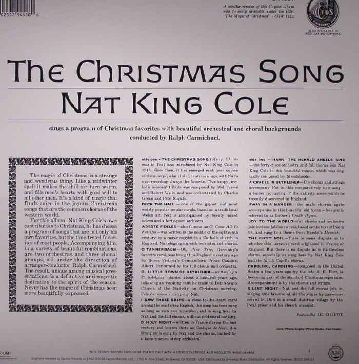 COLE, Nat King - The Christmas Song