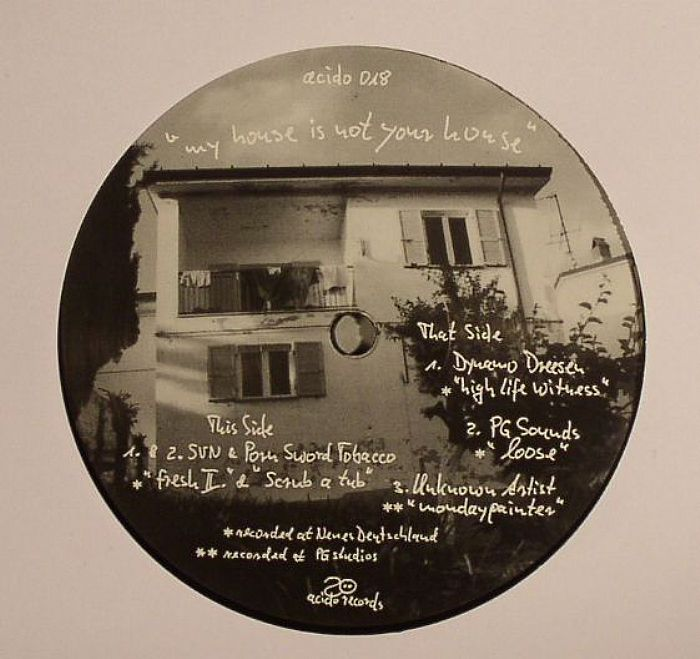 SVN/PORN SWORD TOBACCO/DYNAMO DREESEN/PG SOUNDS/UNKNOWN ARTISTS - My House Is Not Your House