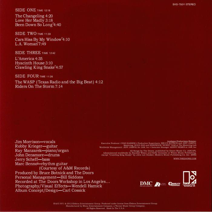 The DOORS LA Woman (remastered) vinyl at Juno Records