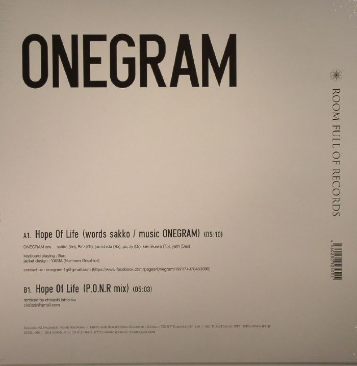 ONEGRAM - Hope Of Life