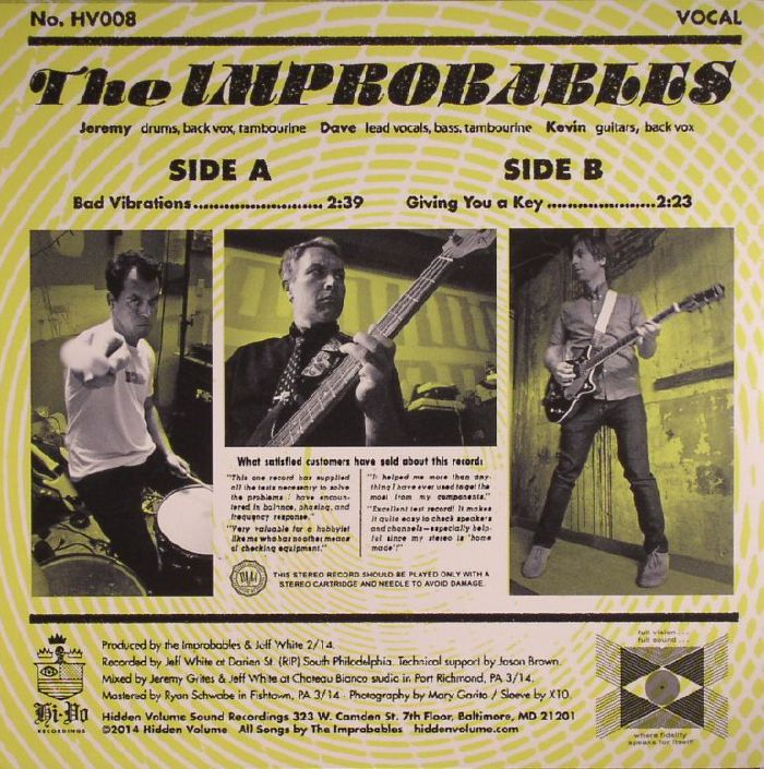 IMPROBABLES, The - Bad Vibrations