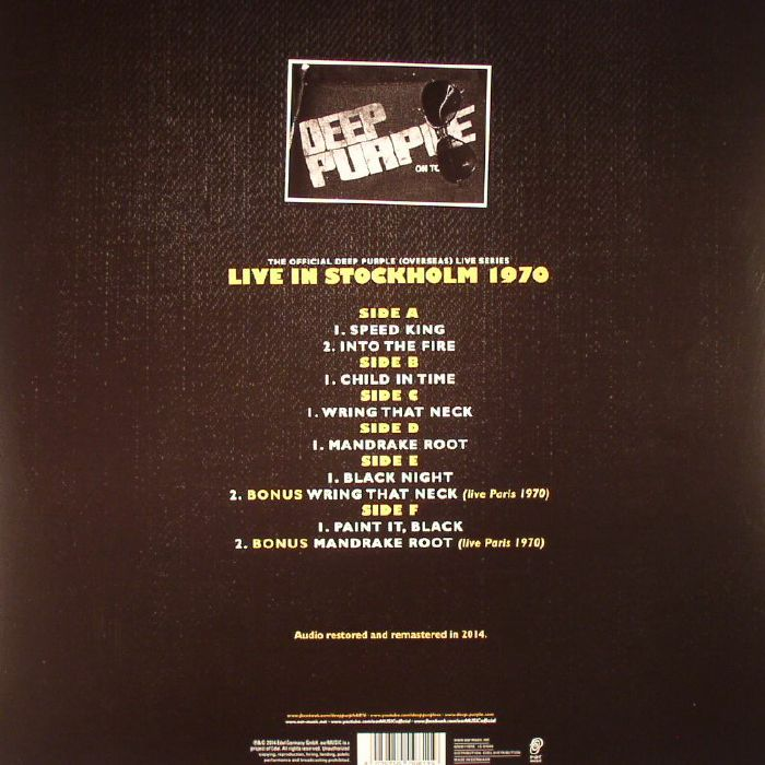 DEEP PURPLE - Live In Stockholm 1970