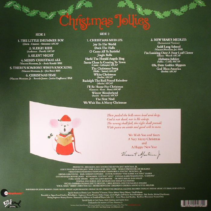 The SALSOUL ORCHESTRA Christmas Jollies vinyl at Juno Records.