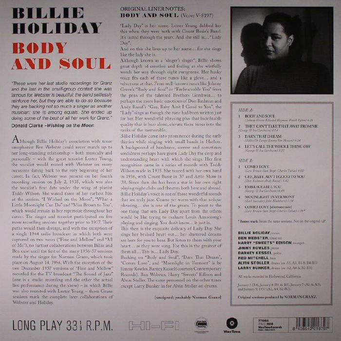 HOLIDAY, Billie - Body & Soul