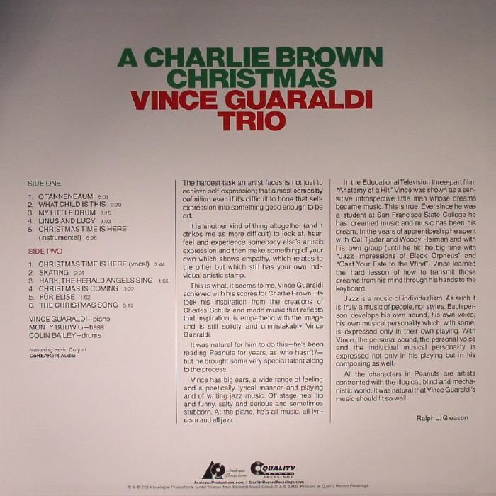 Charlie Brown Christmas Soundtrack.A Charlie Brown Christmas Complete Soundtrack Vince Guaraldi