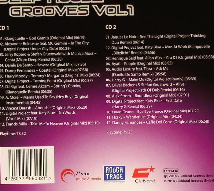 Various deep house groove vol 1 vinyl at juno records for Juno deep house