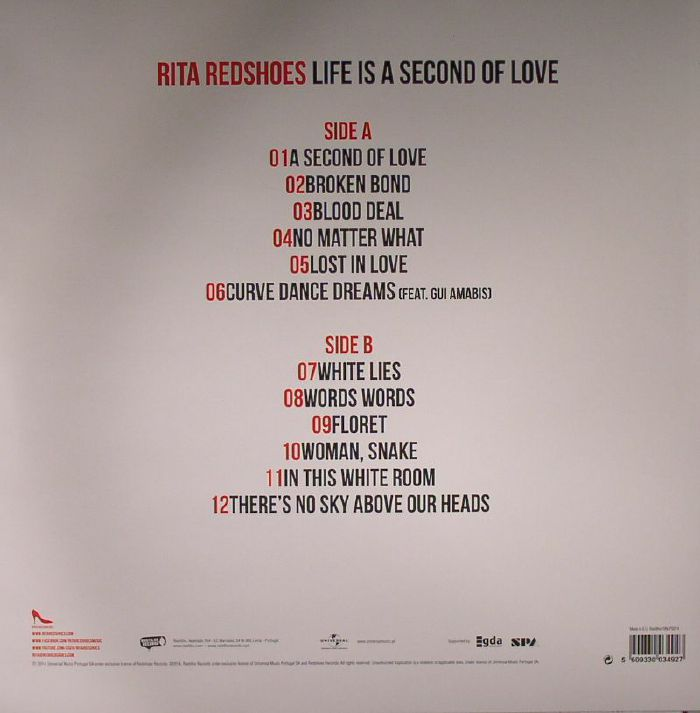 RITA REDSHOES - Life Is A Second Of Love