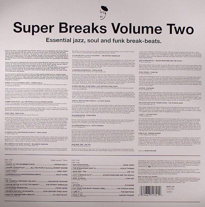 VARIOUS - Super Breaks Vol 2: Essential Jazz Soul & Funk Breakbeats