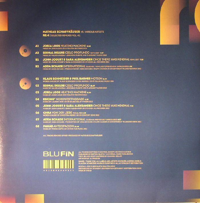 SCHAFFHAUSER, Matthias/VARIOUS - Re:4 Selected Remixes Vol 4.1