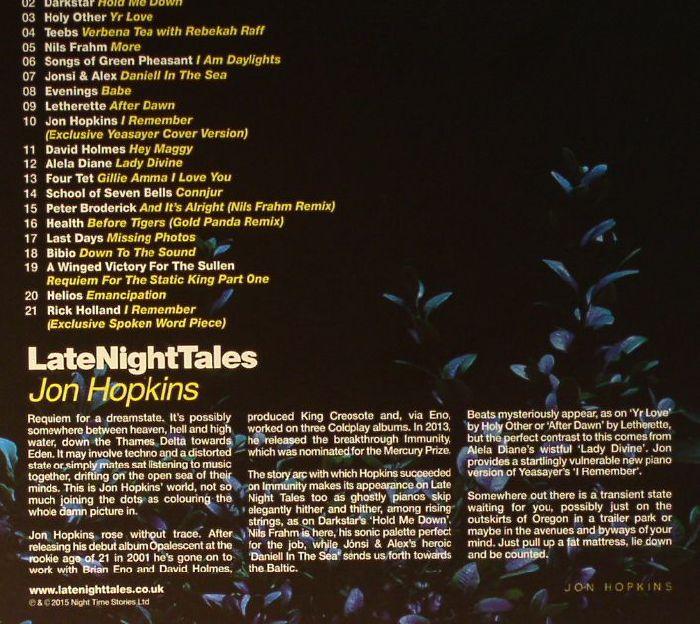Jon Hopkins Various Late Night Tales Vinyl At Juno Records