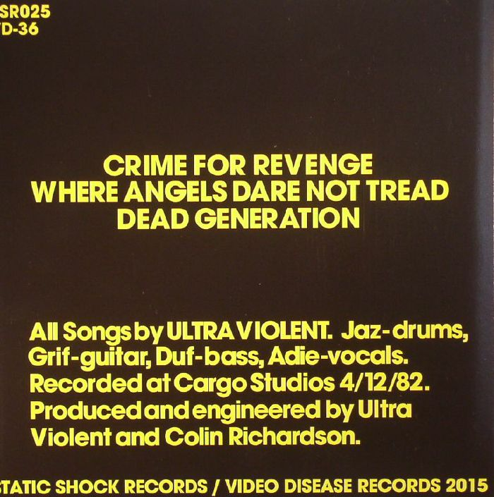 ULTRA VIOLENT - Crime For Revenge