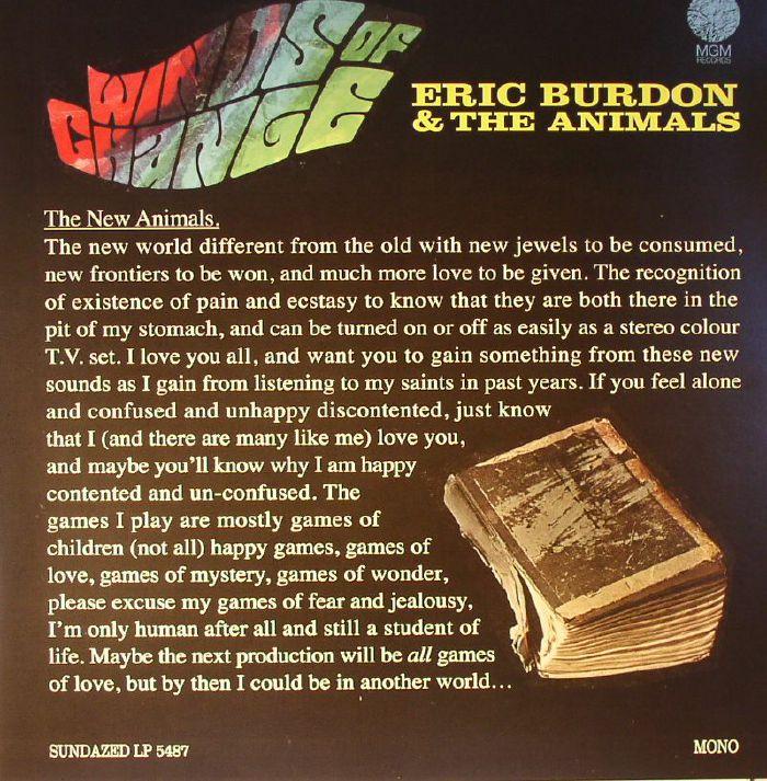 BURDON, Eric & THE ANIMALS - Winds Of Change (mono)