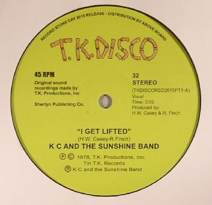 KC & THE SUNSHINE BAND - I Get Lifted (Record Store Day 2015)