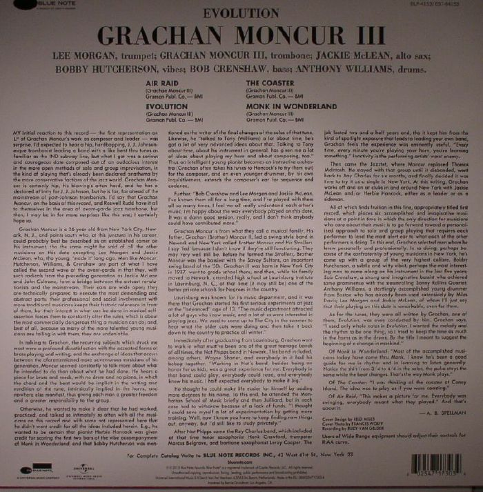 GRACHAN MONCUR III - Evolution (remastered)