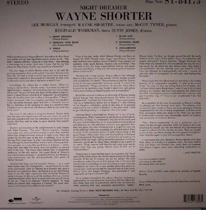 SHORTER, Wayne - Night Dreamer (75th Anniversary Edition)