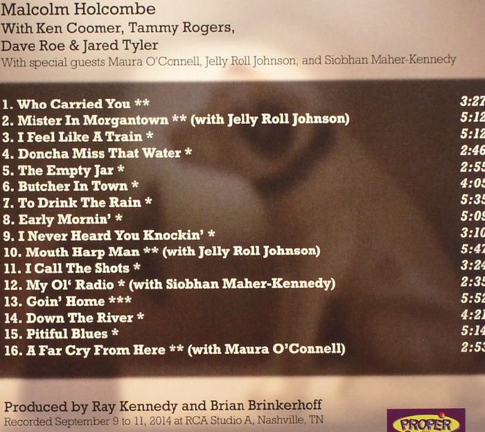 HOLCOMBE, Malcolm - The RCA Sessions