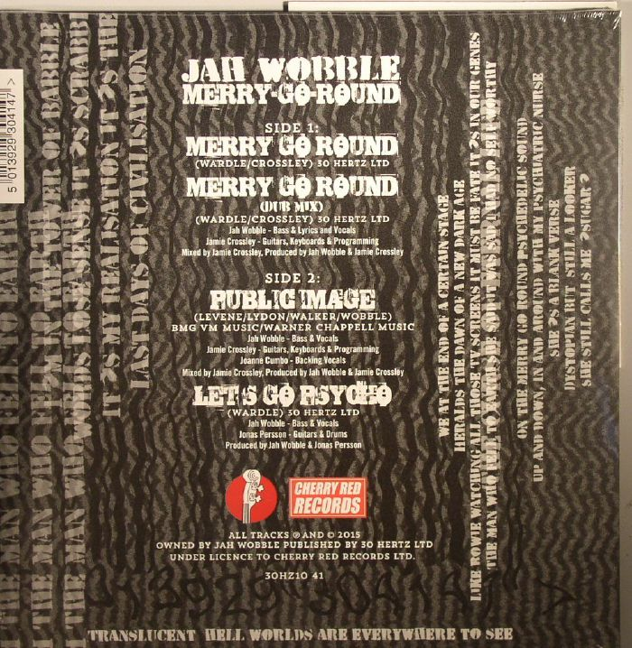 JAH WOBBLE - Merry Go Round (Record Store Day 2015)