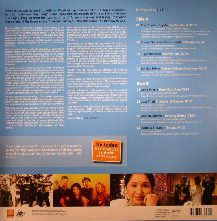 Dj Ritu Various The Rough Guide To Psychedelic India Vinyl