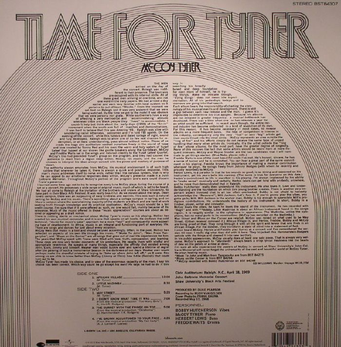 TYNER, McCoy - Time For Tyner (75th Anniversary Edition)