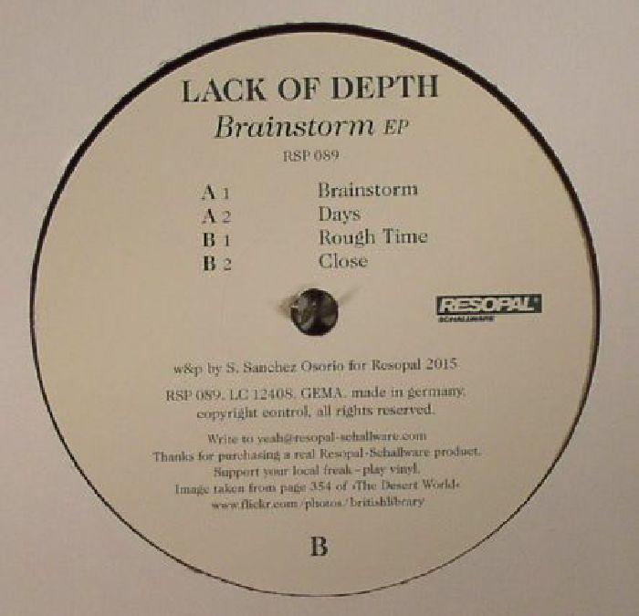 LACK OF DEPTH - Brainstorm EP