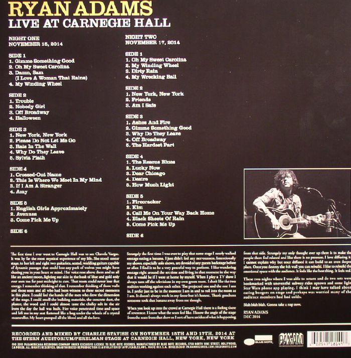 Juno Track Lighting Chicago: Ryan ADAMS Live At Carnegie Hall Vinyl At Juno Records