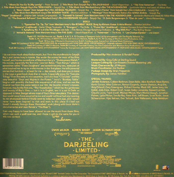 Various The Darjeeling Limited Soundtrack Vinyl At Juno