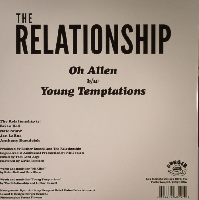 RELATIONSHIP, The - Oh Allen