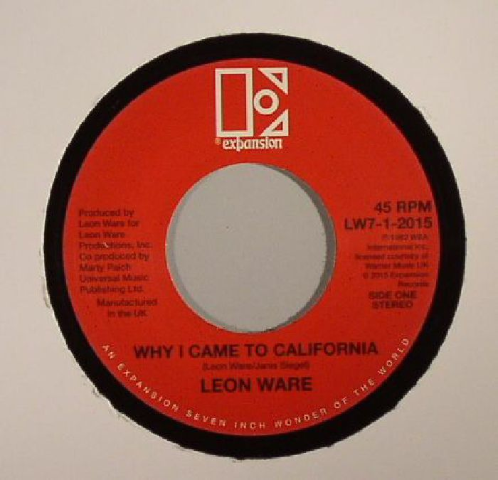 WARE, Leon - Why I Came To California