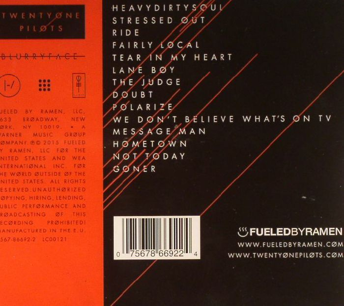Twenty One Pilots Blurryface Vinyl At Juno Records
