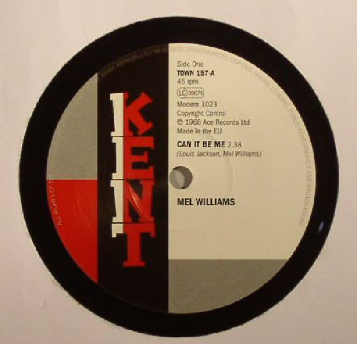 WILLIAMS, Mel/ARTHUR WRIGHT ORCHESTRA - Can It Be Me