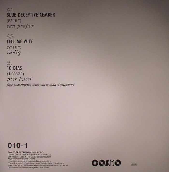 SAN PROPER/RADIQ/PIER BUCCI - Vinyl I