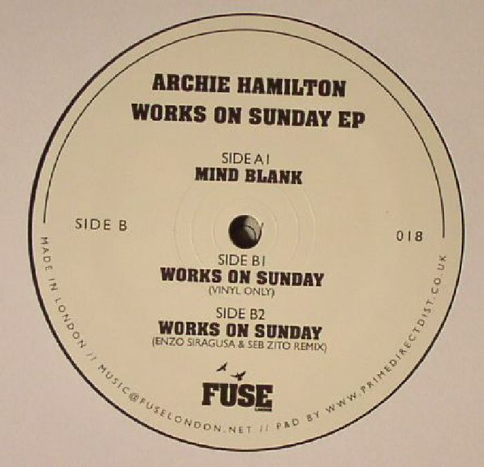 HAMILTON, Archie - Works On Sunday EP