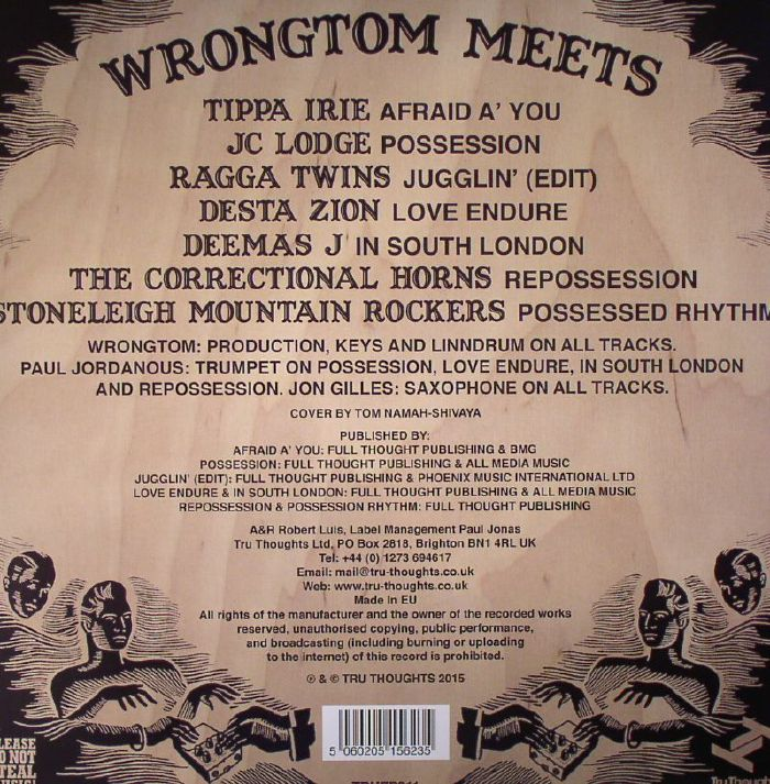 WRONGTOM meets TIPPA IRIE/JC LODGE/RAGGA TWINS/DESTA ZION/DEEMAS J/THE CORRECTIONAL HORNS/STONELEIGH MOUNTAIN ROCKERS - Possessed EP