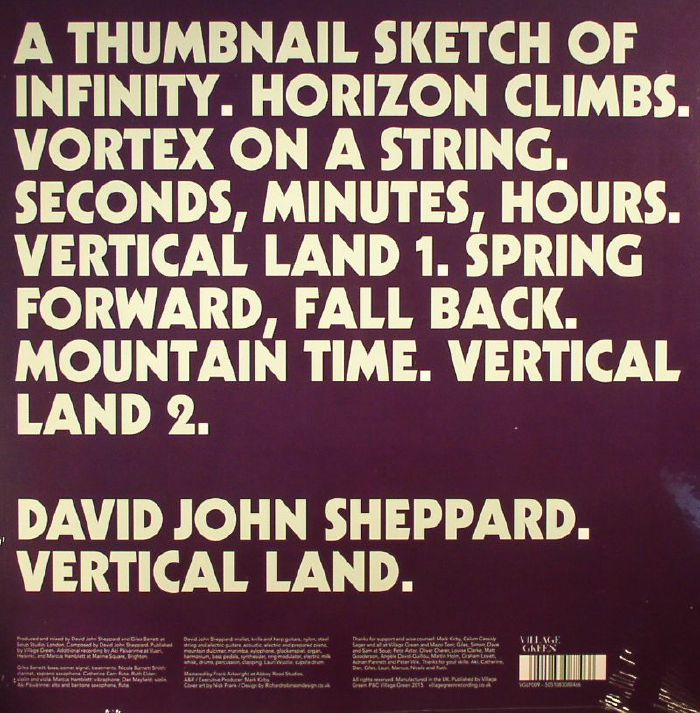 SHEPPARD, David John - Vertical Land